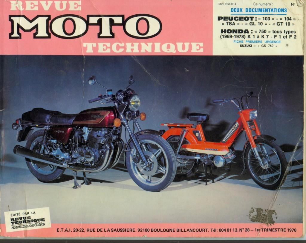 Revue moto technique n 28 peugeot 103 104 tsa gl10 gt10